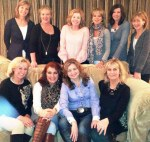 Our hostess Barbara and the Clontarf ladies book club, with Deirdre and Adrienne seated centre front.
