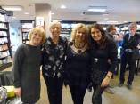 June, Carole Matthews, Lizzie and Adrienne,Waterstones, Kensington High Street