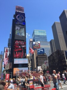 Times Square - the energy is palpable!