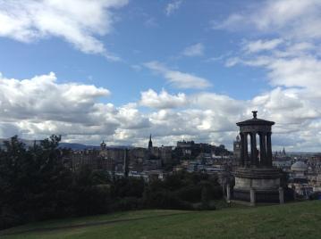 view over Edinburgh towards the castle